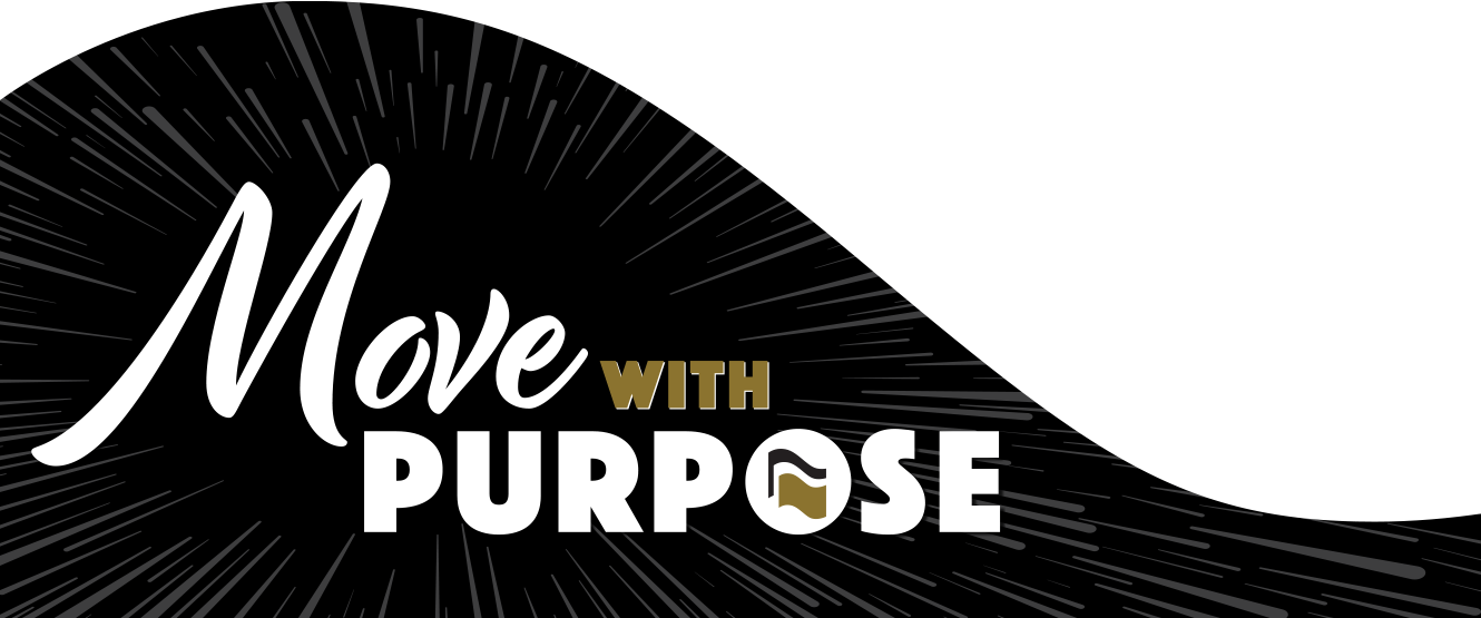 Move with purpose banner